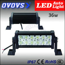 "OVOVS hot sale factory price 7.5"" 12v 36w off road light bar for ATV SUV offroad 4x4 truck 12V 24V"