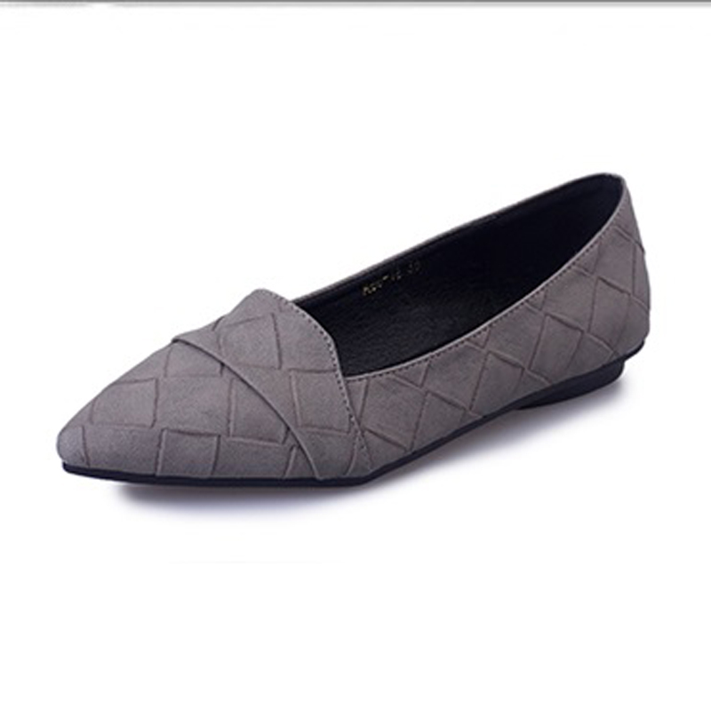 2017 period and the new documentary shoes pointed flats shallow mouth contracted flat pure color lattice flat shoes<br><br>Aliexpress