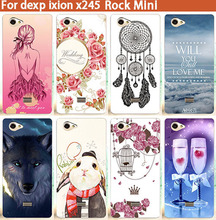 "HOT Selling New DIY Painting Case Ixion X245 Rock mini Soft TOU Patterns Cell Phone Cover For DEXP Ixion X245 Rock mini 4.5""(China)"