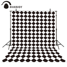 Allenjoy photography backdrop Black and white box repetitive cold children backdrop photocall photo printed excluding stand(China)