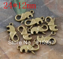 Sweet Bell 50PCS/lot 24*12MM lobster clasp, buckle bags buckle design restoring ancient  lobster clasp accessories wholesale
