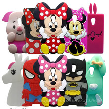 3D Cartoon Minnie Stitch Bunny capa Case For Motorola Moto G2 G 2 XT1068 XT1069 Silicone Cell Phone Cover For Moto G2 Case