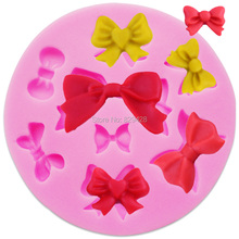 Milkmico M117 8 Mini Bows Butterfly Silicone Mould Cake Fondant Sugar Bow Craft Molds DIY Cake Decorating Tools