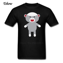 Sock Monkey Tshirt Man Leisure Summer Print Pure Cotton Male Tops O-neck Short Sleeve Designer T-shirt On Sale Shirt Boys(China)