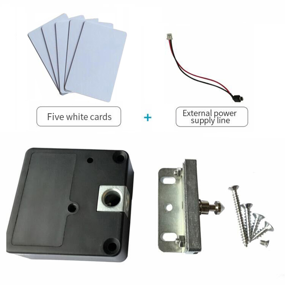 125khz rfid Keyless Hidden Locker Cabinet Lock Private card Lock Castle Black Electronic Invisible Digital Cabinet Door Lock<br>