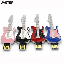 JASTER Rock and roll electric guitar shape USB Flash Drive music pen drive metal pendrives memory stick 4gb 8GB 16GB 32GB