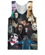 Cinema Killers Tank Top Michael Myers Leatherface Hellraiser Hannibal Lecter 3d Vest Sexy Summer Jersey For Women Men(China)