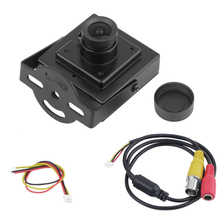 "1pcs Hot Selling Mini HD 700TVL 1/3"" Sony CCD 2.1mm Wide Angle Lens CCTV Security FPV Color Home Security Camera"