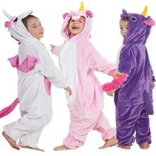 Unicorn Pyjamas Kids Pajamas Girls Pijama Bathrobe Cosplay Anime Animal Children Onesie Boy Girl Sleepers Fleece Flannel