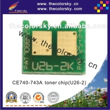 (CZ-UH5520) toner cartridge reset chip for HP Color LaserJet CP1215 CP1515 CP1518 CP2025 CP5225 CP3525 CM3530 bkcmy free dhl(China)