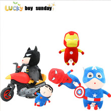 Crayon Shin Chan Plush Toy Spider-Man Captain America Superman Crayon Shin-Chan Soft Doll Japanese Anime Action Figure For Kids