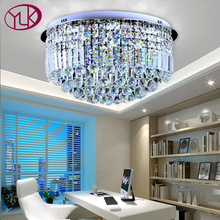 Luxury new design Crystal Ceiling Light Diamond LED Crystal lamp for Dining Living room Round Lustres Lamparas de techo Home(China)
