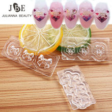 9 Designs/Lot Fashion Reusable Acrylic Silicone Nail Art Mold Template Nail Gemstone Jewelry Maker Soft Mold Nail DIY Decoration(China)