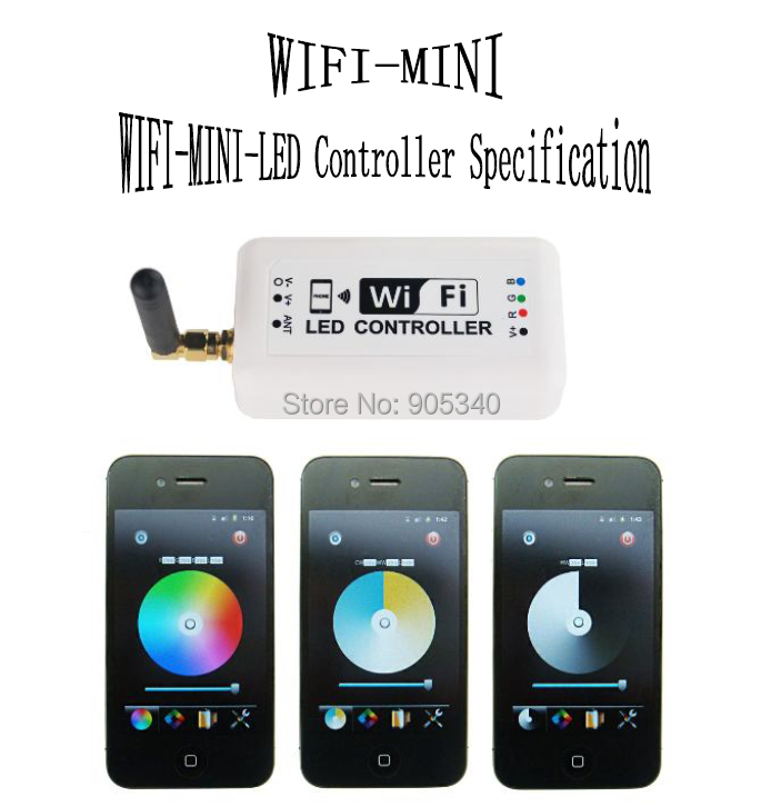 Wifi RGB LED controller,for Iphone,Ipad,Android mobile phone 2.3Version IOS system,DC12-24V,Without music control fuction<br><br>Aliexpress
