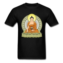 Normal Round Neck Male BUDDHA COLOR T Shirt Styles Cheap Men Cotton Tee Shirts