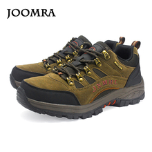 Joomra Men Hiking Shoes Windproof Waterproof Trekking leather Shoes Climbing  Fishing Shoes New popular Breathable Outdoor shoes