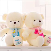 Birthday Valentines Gift  Baby Bear Wedding Plush Toy High Quality Teddy Bear Doll 2 Colors Size 30cm gift Home Decoration