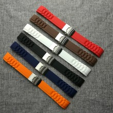 Selling!! New Waterproof 6 colors Silicone Rubber Watch Wrist watch Strap Band Replacement 22mm 20mm 10,000 LB Rating radian
