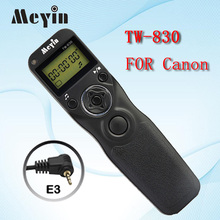 MEYIN TW-830 E3 TW-830 Shutter Release Cable Timer Remote Control for Canon PowerShot G10 1200D 700D 550D Pentax Samsung Contax