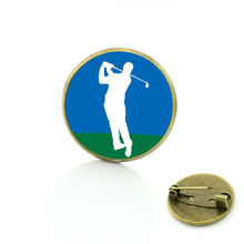 sales 2017  I Love Golf brooches pins men women golf player jewelry brooch casual sports badge pin club gifts SP01