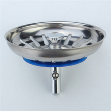High Quality 1pc 304 Stainless Steel Kitchen Sink Strainer Stopper Waste Plug Sink Filter Bathroom Basin Sink Drain