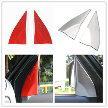 2PCS/Set High Quality Red Matte ABS Chromed Door A Pillar Interior Accessories  Cover Kits Sticker For SUZUKI Jimny