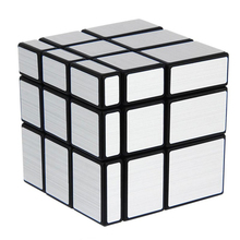 Silver 57mm 3x3x3 Cast Coated Magic Cube Rubik's Cube Mirror Cube Competition Speed Puzzle Cubes Funny Educational Mini Toys