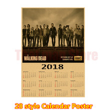 2018 Film calendar poster Kraft paper poster Wall Sticker Home Decora Can be customized wholesale(China)