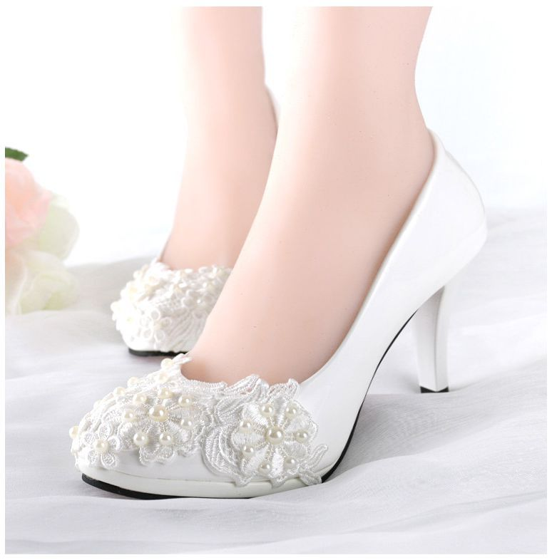 High heels woman wedding shoes ivory sexy lace pearls beaded bridal pumps shoe bridesmaid oarty shoe XNA 253<br><br>Aliexpress