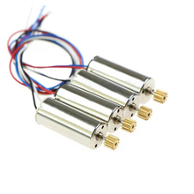 4x Standard Motor for JJRC H8C DFD F183 F182 F181 RC Quadrocopter Drone Spare Parts Accessories Motor Engine with Wheel Gear