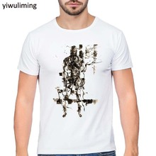 Game MGS Metal Gear Solid V 5 The Phantom Pain Venom Snake Short Sleeve White O-Neck T-shirts Tops Tee Shirts(China)