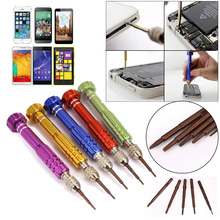 5 in1 Universal Repair Open Tools Kit Disassemble Torx Star Phillips Screwdrive Set For iPhone 5 5s 6 6s Tablet PC