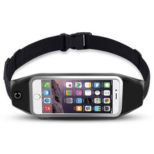 Ascromy Running Belt Waist Pack for iPhone 7 6S 6 Plus 5 Galaxy S5 S6 S7 Edge Note 4 5 LG G3 Case Cover Mobile Phone Accessories(China)