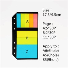 1pcs 240pages creative 6holes apple to A6 A5 B5 holes notebook n times Decorative memo pad sticky note post it school supplies