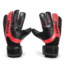 2016 Black And Red Football Ball Soccer Ball Soccer GAoalkeeper Gloves With Finger Protection Size 6-10 Football Gloves