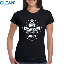 Great T Shirts Gildan Women'S O-Neck Princesse Are Born In July Birthday Short Sleeve Compression T Shirts