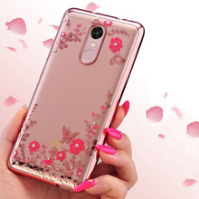 Buy Xiaomi Redmi NOTE 4X case, Luxury Plating Secret Garden Flowers Rhinestone back Cover Phone Cases Redmi NOTE 4X for $1.67 in AliExpress store