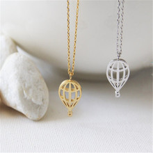Christmas gift New Trendy Jewelry Wholesale Hot Air Balloon Necklace Cute and Sweet Sky Balloon Necklace for Birthday gift
