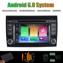 Android 6.0 Octa núcleo REPRODUCTOR de DVD DEL COCHE para FIAT BRAVO AUTO Radio RDS WIFI 2G RAM 32G Inand Flash(China)