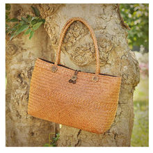 Rattan grass Big  Bags Handmade Woven Tote Women Travel Handbags Designer Vintage Shopping Hand Bags Shoulder Bags