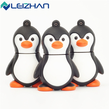 Lovely Penguin USB Flash Dirve 16GB Cute Pen Drive 32gb USB 2.0 Memory Pendrive 8GB Animal Computer U Disk 4GB(China)