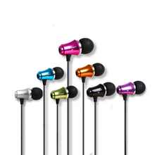 NEW Colorful Fashion In-Ear 3.5mm Jack Earphone Stereo Bass Metal for PC iPhone Samsung Xiaomi MP3 MP4(China)