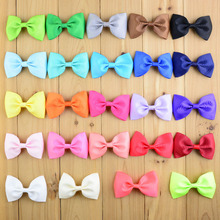 20pcs/lot  2.75 inch Boutique ribbon hair clip barrettes baby hair bows hairpins girls clips diy children hair accessories A32