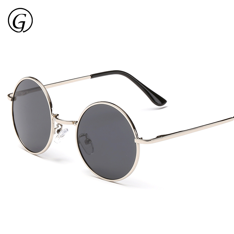 High Quality Fashion Small Face Round Sunglasses Men Polarized Photochromic Lens Coating Blue Gold Retro Vintage Sun Glasses <br><br>Aliexpress