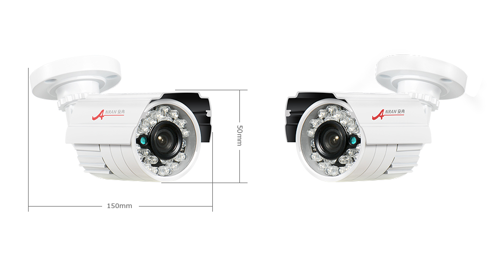 ANRAN 960H Analog CCTV Camera 1200TVL Infrared Outdoor Night Vision Waterproof Security Camera Black White For Optional