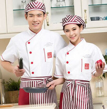 white chef uniforms restaurant chef clothes short sleeve chef tops cook uniforms chinese cook clothing