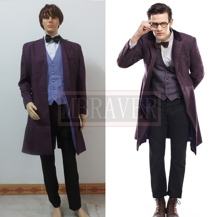 Free Shipping Doctor Who Cosplay Costume Whole Set Custom Made Any Size