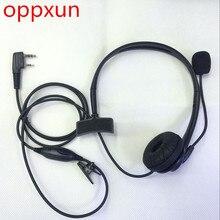 OPPXUN Microphone 2 Pin PTT Mic Headphone Headset for walkie talkie for Baofeng  UV-5R UV-5RA UV-B5  BF-666S BF-888S UV-82
