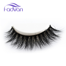 3D Mink Lashes Strips Easy Apply False Eyelashes Handmade Thick Double Wispies Eyelashes Mink Reusable by FADVAN(China)