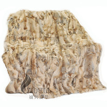CX-D-94 2017 New Hot Selling Home Decorated Discount Sell Real Rabbit Fur Throw Blanket Carpet